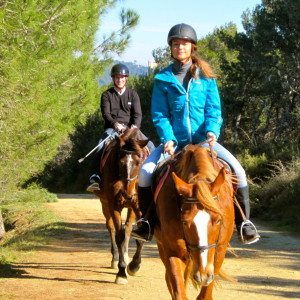 living it horseback riding Sofi and Jeff review